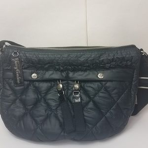 Juicy couture black quilted crossbody bag